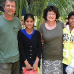 Uli, Chanrah, Ingrid und Sreyleh 2013
